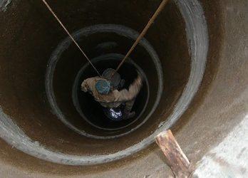 Герметизация колодца из бетонных колец изнутри